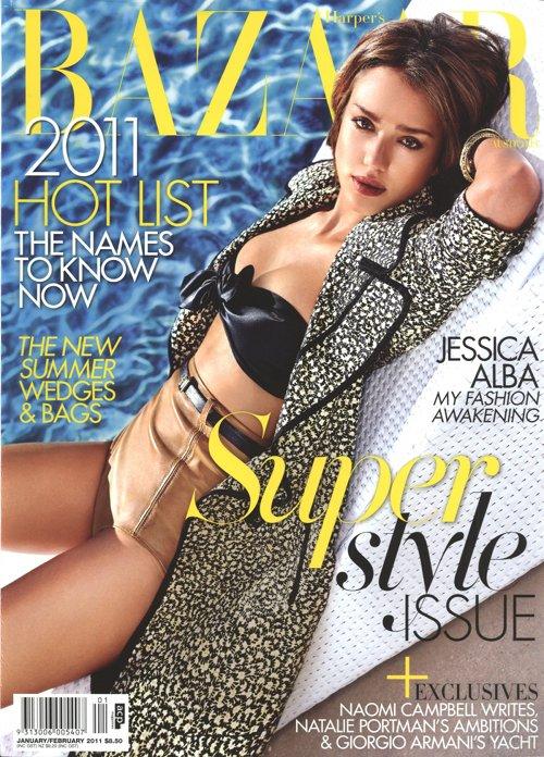 Jessica Alba Harper's Bazaar janvier 2011