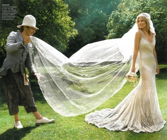 John Galliano et Kate Moss mariage