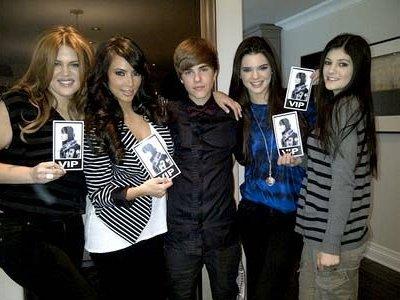 Justin Bieber et soeurs Kardashian
