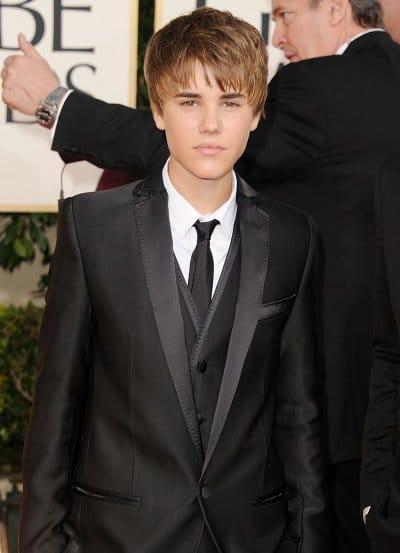 Justin Bieber golden globe awards 2011