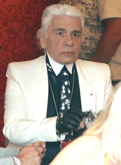 Karl Lagerfeld sans lunettes