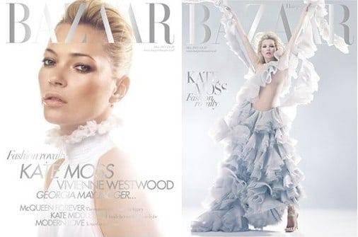 Kate Moss en couverture de Harper's Bazaar mai 2011