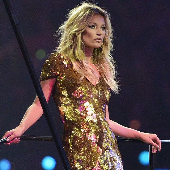Kate Moss en or pour la cérémonie de clôture des Jeux Olympiques de Londres