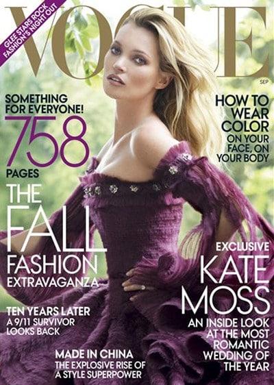 Kate Moss Vogue septembre 2011