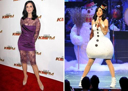 Katy Perry et sa tenue bonhomme de neige !