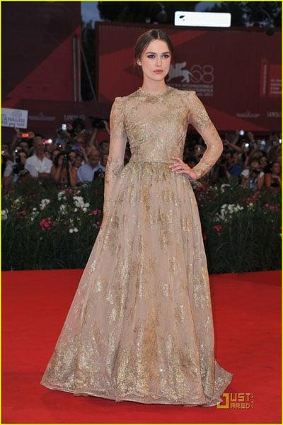 Keira Knightley sublime et rayonnante à la Mostra de Venise 2011