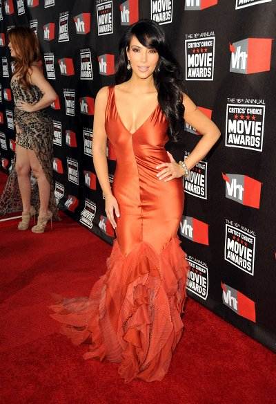 Kim Kardashian Critics Choice awards 2011