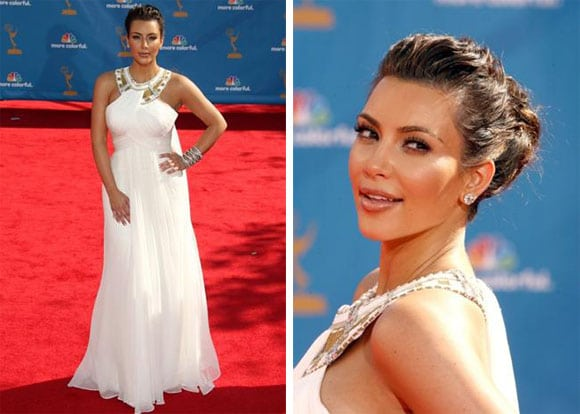Kim Kardashian aux Emmy Awards 2010