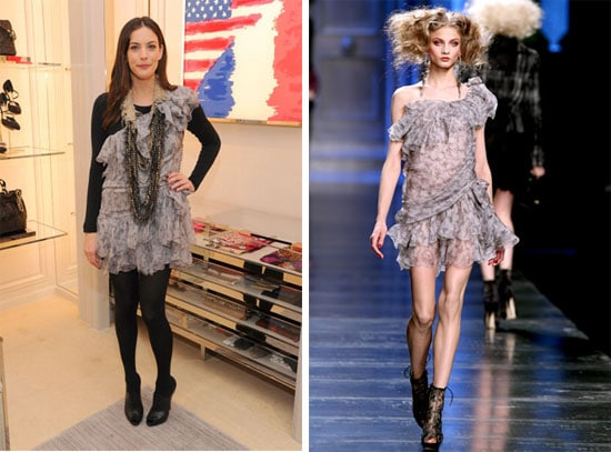 Liv Tyler en robe Dior automne 2010