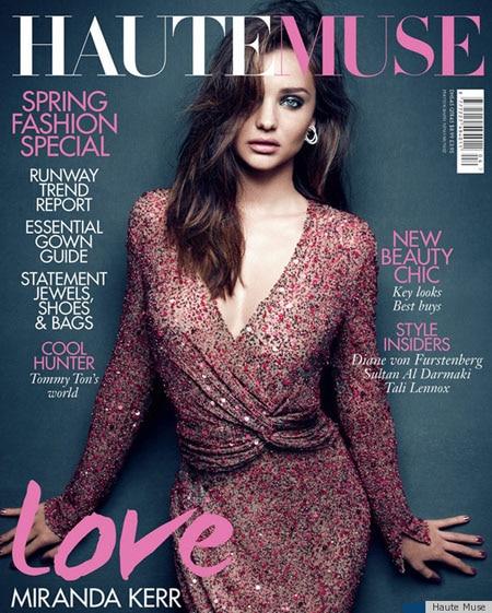 Miranda Kerr transformée pour le magazine Haute Muse