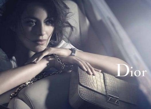 Marion Cotillard pour la campagne publicitaire des sacs Miss Dior