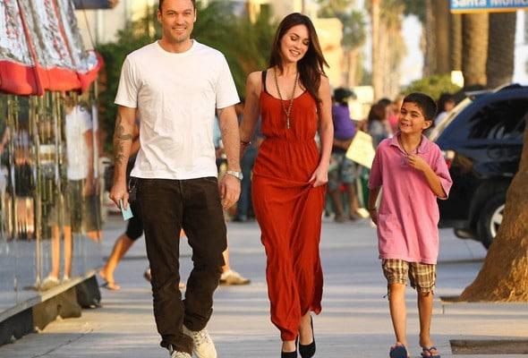 Megan Fox en ballade avec Brian Austin Green et son fils