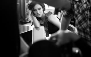 Coulisses du shooting Armani avec Megan Fox