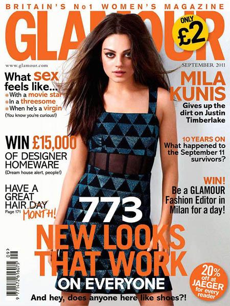 Mila Kunis Glamour UK septembre 2011