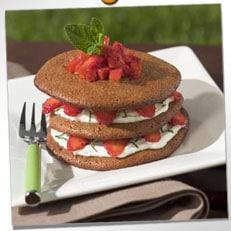 Millefeuilles moelleux chocolat, fraises et mascarpone