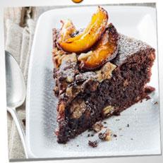 Moelleux au chocolat aux quetsches et noix