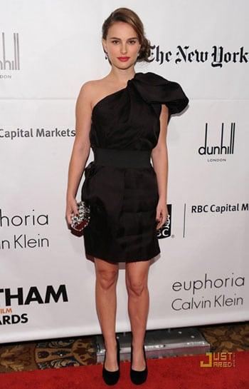 Natalie Portman en robe Lanvin pour H&M