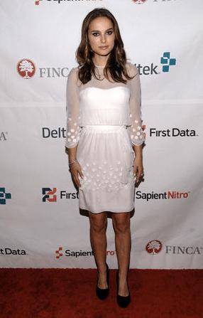 Natalie portman robe blanche