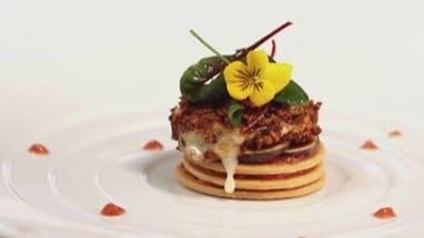 Recette du tarte fine de Rocamadour, Figues noires et cerneaux de noix de Cyril Lignac