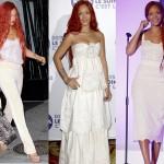 Rihanna accro au look total blanc ?