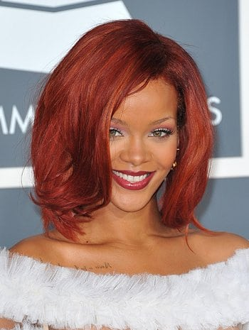 rihanna red hair 2011. red hair camp was Rihanna: