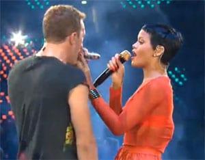 Rihanna et Chris Martin