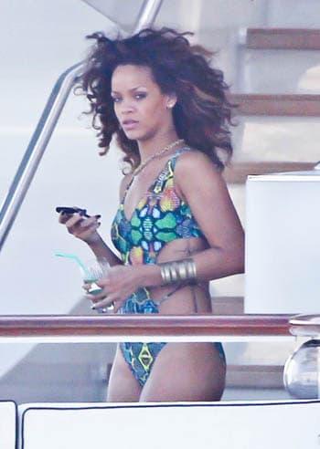 Rihanna en vacances à St-Tropez