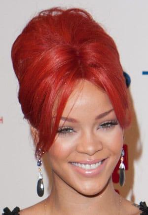 Le chignon haut de Rihanna