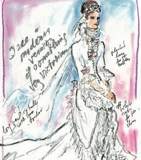 Les croquis des grands noms de la mode pour Kate Middleton