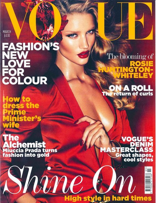 Rosie Huntington-Whiteley Vogue UK Mars 2011