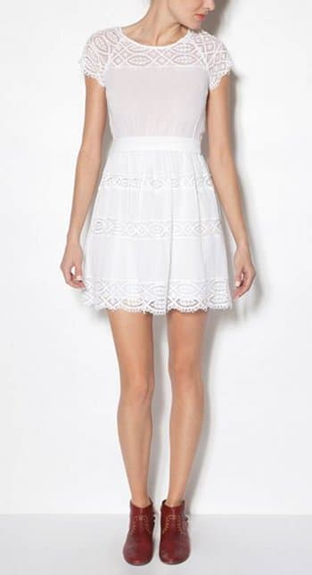 robe blanche Sandro