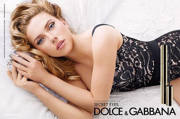 Scarlett Johansson secret eyes dolce & gabbana