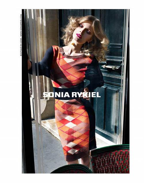 Constance Jablonski pour la campagne publicitaire Sonia Rykiel automne 2011