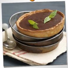 Tartelettes au chocolat et au basilic