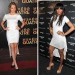 Robe blanche Cushnie et Ochs : Ciara vs Teresa Palmer