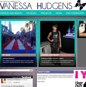 Vanessa Hudgens ouvre son nouveau site officiel