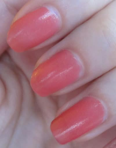 Vernis 447 orange des indes Dior swatch