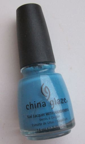 "Vernis ""Caribbean Blue"" China Glaze swatch, test, photos"