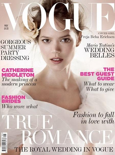 Des mariées de charme pour le Vogue UK mai 2011