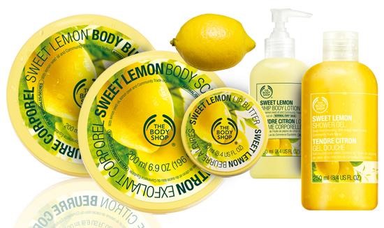 Body shop sort une nouvelle gamme au citron