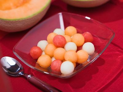 Salade melon, tomates et mozzarella