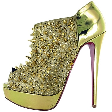bridgets back gold louboutin