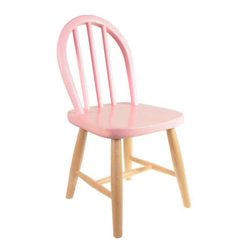 Les jolies chaises enfants filou rose in april for Chaise rose