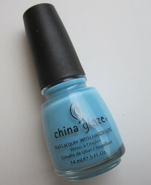 "Vernis China glaze ""Bahamian escape"" swatch, test, photos"