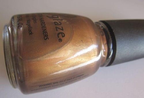 Vernis china glaze platinium gold