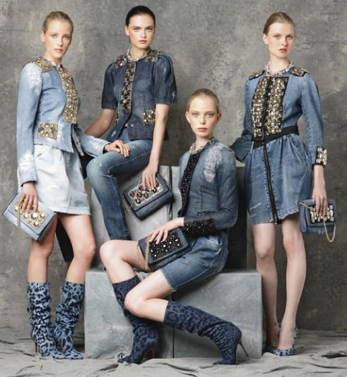 Le look 100% denim par Dolce & Gabbana