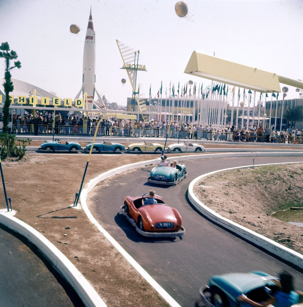 go-carts-Disneyland-looked-little-different-back-1955