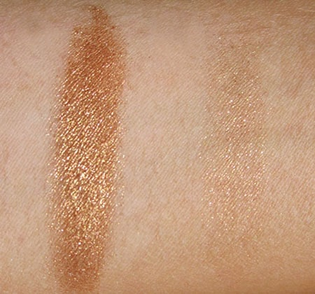 "Sisley touch ""golden"" swatch, test, photos"