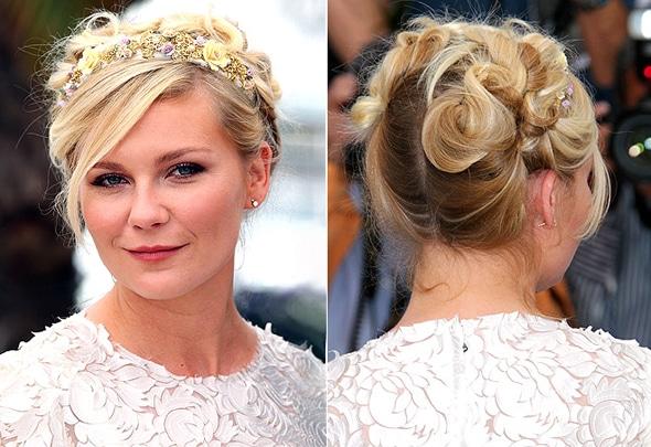 Idée coiffure : Le sublime chignon de Kirsten Dunst