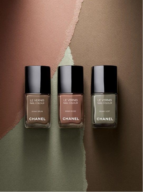 Collection de vernis les khakis de Chanel